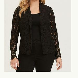 TORRID Elegant Black Lace Blazer 0X